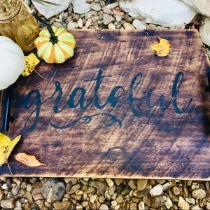 Large Handcrafted Rustic Wood Serving Tray